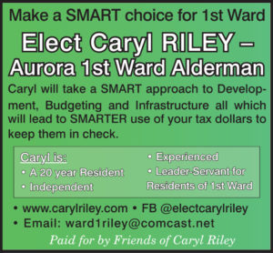 Elect Caryl Riley for 1st Ward Alderman
